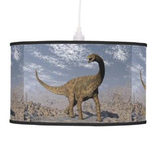 Spinophorosaurus dinosaur walking in the desert pendant lamp