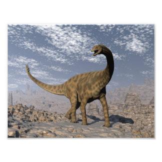 Spinophorosaurus dinosaur walking in the desert photo print