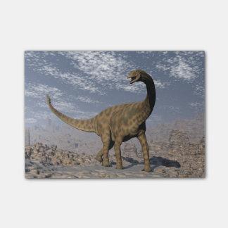 Spinophorosaurus dinosaur walking in the desert post-it notes