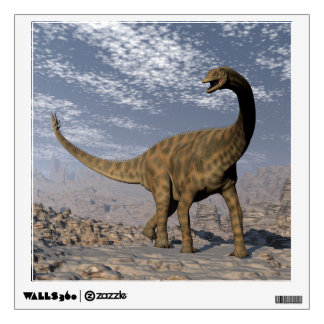 Spinophorosaurus dinosaur walking in the desert wall decal