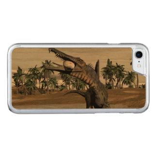 Spinosaurus dinosaur eating fish - 3D render Carved iPhone 8/7 Case