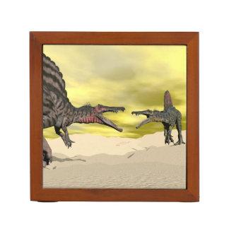 Spinosaurus dinosaur fighting - 3D render Desk Organizer