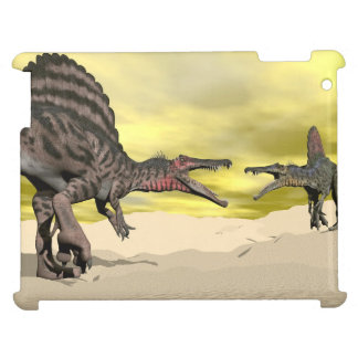 Spinosaurus dinosaur fighting - 3D render iPad Covers