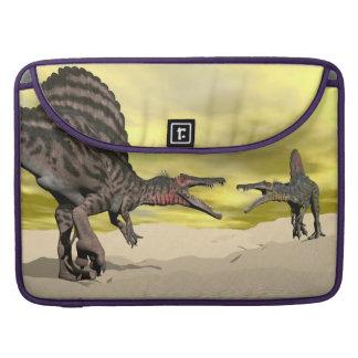Spinosaurus dinosaur fighting - 3D render Sleeve For MacBook Pro