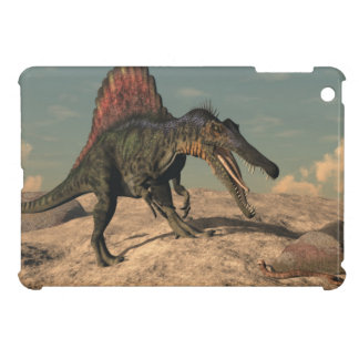 Spinosaurus dinosaur hunting a snake cover for the iPad mini