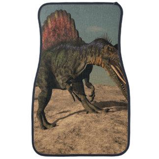 Spinosaurus dinosaur hunting a snake floor mat