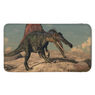 Spinosaurus dinosaur hunting a snake galaxy s5 pouch