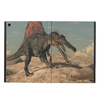 Spinosaurus dinosaur hunting a snake iPad air covers