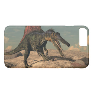 Spinosaurus dinosaur hunting a snake iPhone 7 plus case