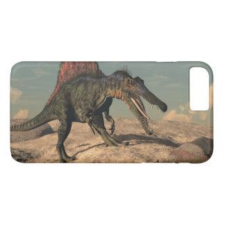 Spinosaurus dinosaur hunting a snake iPhone 8 plus/7 plus case