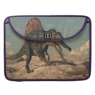 Spinosaurus dinosaur hunting a snake sleeve for MacBook pro