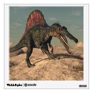 Spinosaurus dinosaur hunting a snake wall sticker