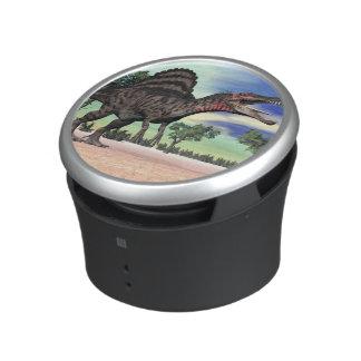 Spinosaurus dinosaur in the desert - 3D render Bluetooth Speaker