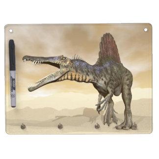 Spinosaurus dinosaur in the desert - 3D render Dry Erase Board With Keychain Holder