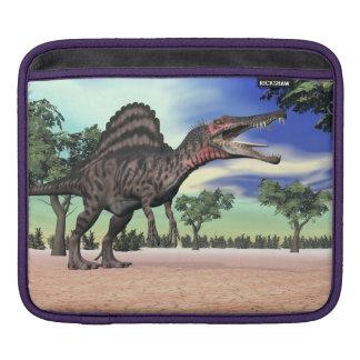 Spinosaurus dinosaur in the desert - 3D render iPad Sleeve
