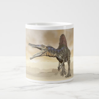Spinosaurus dinosaur in the desert - 3D render Large Coffee Mug