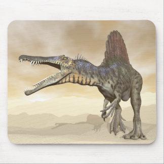 Spinosaurus dinosaur in the desert - 3D render Mouse Pad