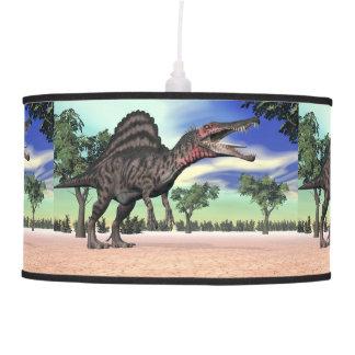 Spinosaurus dinosaur in the desert - 3D render Pendant Lamp