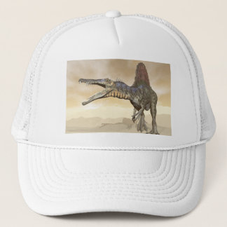 Spinosaurus dinosaur in the desert - 3D render Trucker Hat