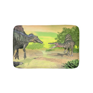 Spinosaurus dinosaurs fight - 3D render Bath Mat