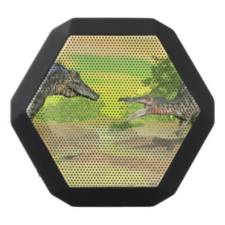 Spinosaurus dinosaurs fight - 3D render Black Bluetooth Speaker