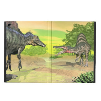 Spinosaurus dinosaurs fight - 3D render iPad Air Cover