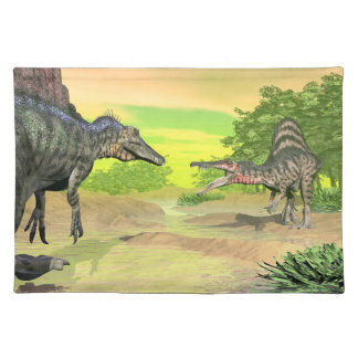 Spinosaurus dinosaurs fight - 3D render Placemat