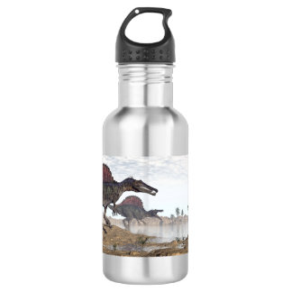 Spinosaurus dinosaurs in desert - 3D render 532 Ml Water Bottle