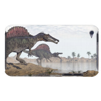 Spinosaurus dinosaurs in desert - 3D render Barely There iPod Covers