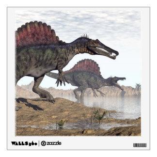 Spinosaurus dinosaurs in desert - 3D render Wall Sticker
