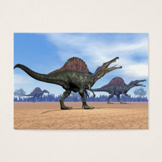 Spinosaurus dinosaurs walk - 3D render Business Card