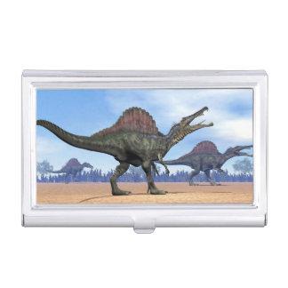 Spinosaurus dinosaurs walk - 3D render Business Card Holder