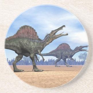 Spinosaurus dinosaurs walk - 3D render Coaster