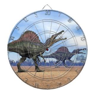 Spinosaurus dinosaurs walk - 3D render Dartboard