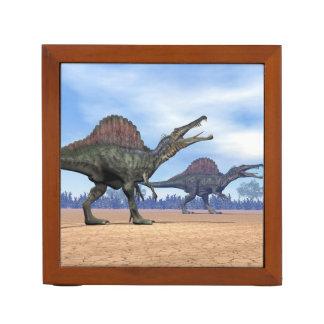 Spinosaurus dinosaurs walk - 3D render Desk Organizer