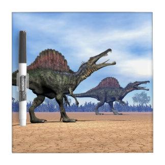 Spinosaurus dinosaurs walk - 3D render Dry Erase Board