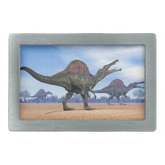 Spinosaurus dinosaurs walk - 3D render Rectangular Belt Buckle