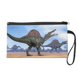 Spinosaurus dinosaurs walk - 3D render Wristlet