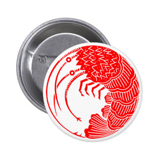 Spiny lobster circle 2 inch round button