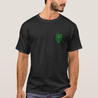 Spiny Lobster Neon Green - Back Feature T-Shirt