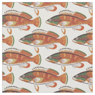 Spiny Painted Fish Fabric