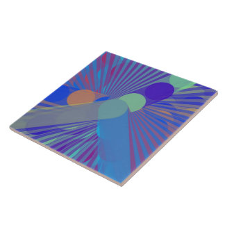 Spira-Weird - Colorful Abstract Ceramic Tile
