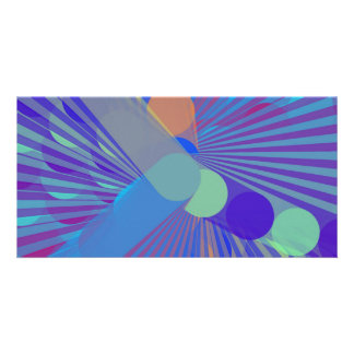 Spira-Weird - Colorful Abstract Customized Photo Card
