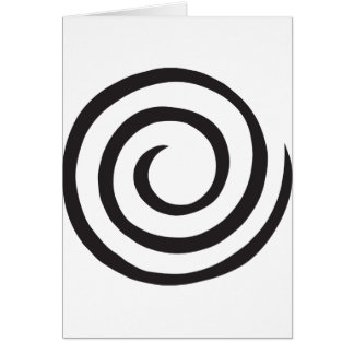 Spiral abstract card