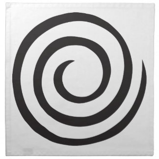 Spiral abstract napkin