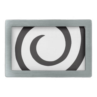 Spiral abstract rectangular belt buckles