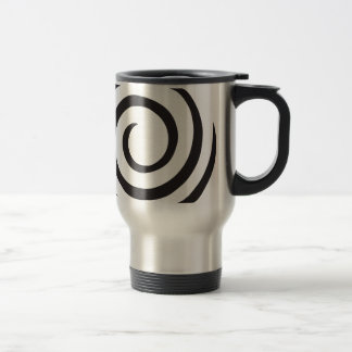 Spiral abstract travel mug