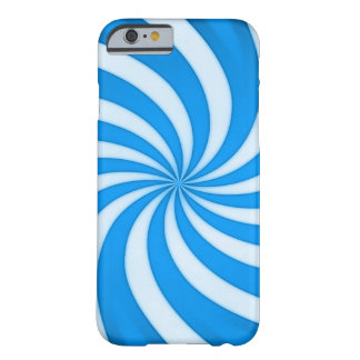 Spiral Baby Blue Candy Cane Barely There iPhone 6 Case