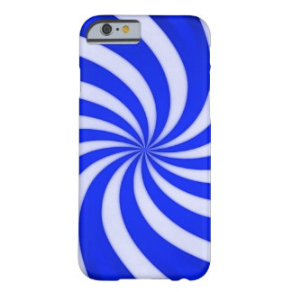 Spiral Blue Candy Cane Barely There iPhone 6 Case
