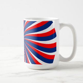 Spiral blue white red... coffee mug